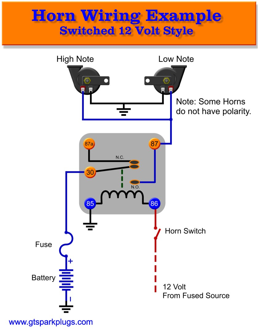 Marine Wiring A Horn | Schematic Diagram - Air Horn Wiring Diagram