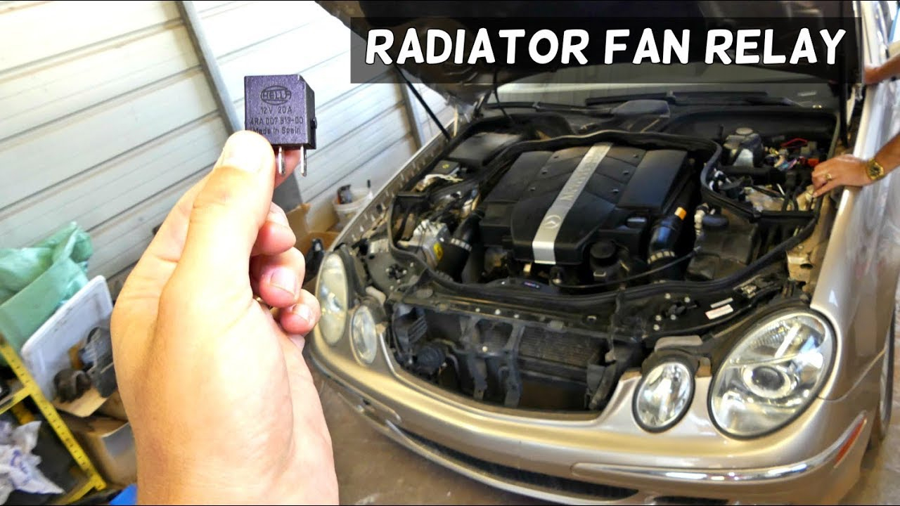 Mercedes W211 Radiator Fan Relay Location Replacement - Youtube - Cooling Fan Relay Wiring Diagram