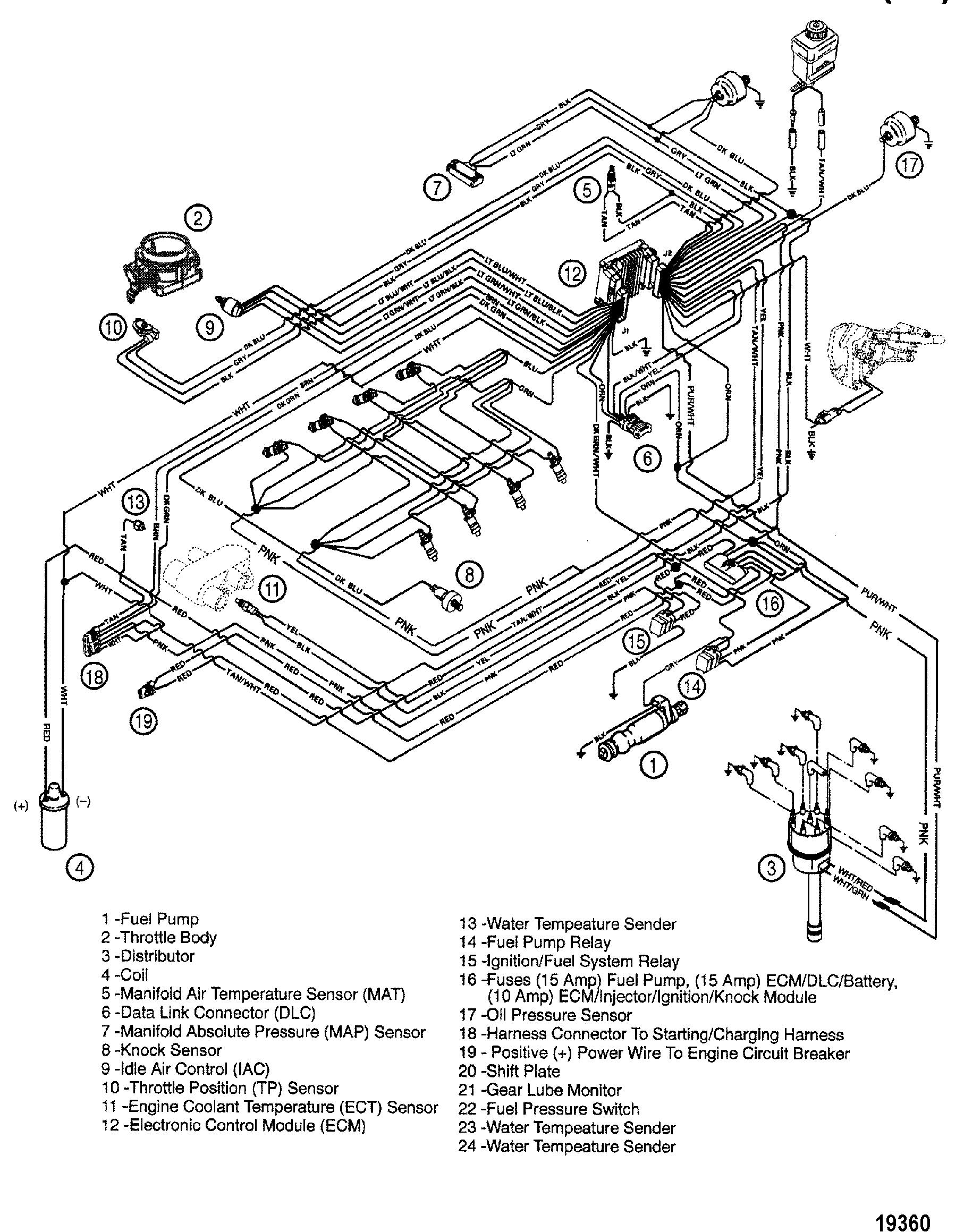 fuel injected 350 mercruiser engine diagram