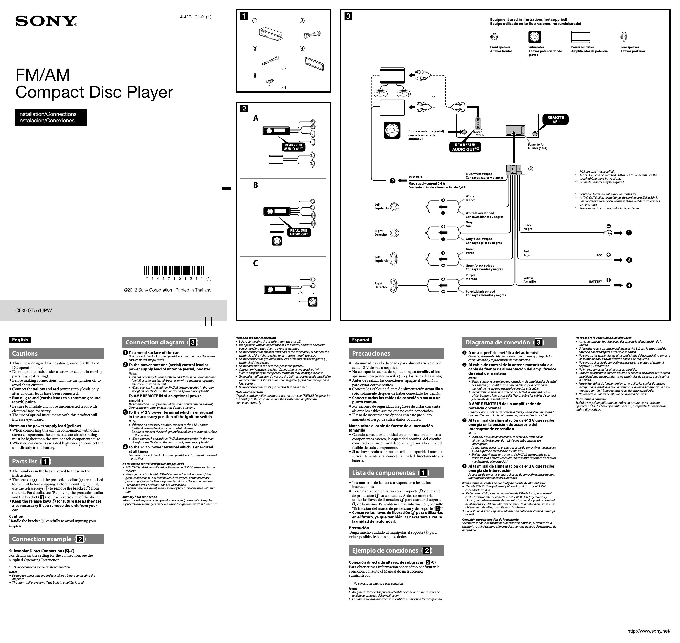 Sony Xplod Car Radio Wiring Diagram