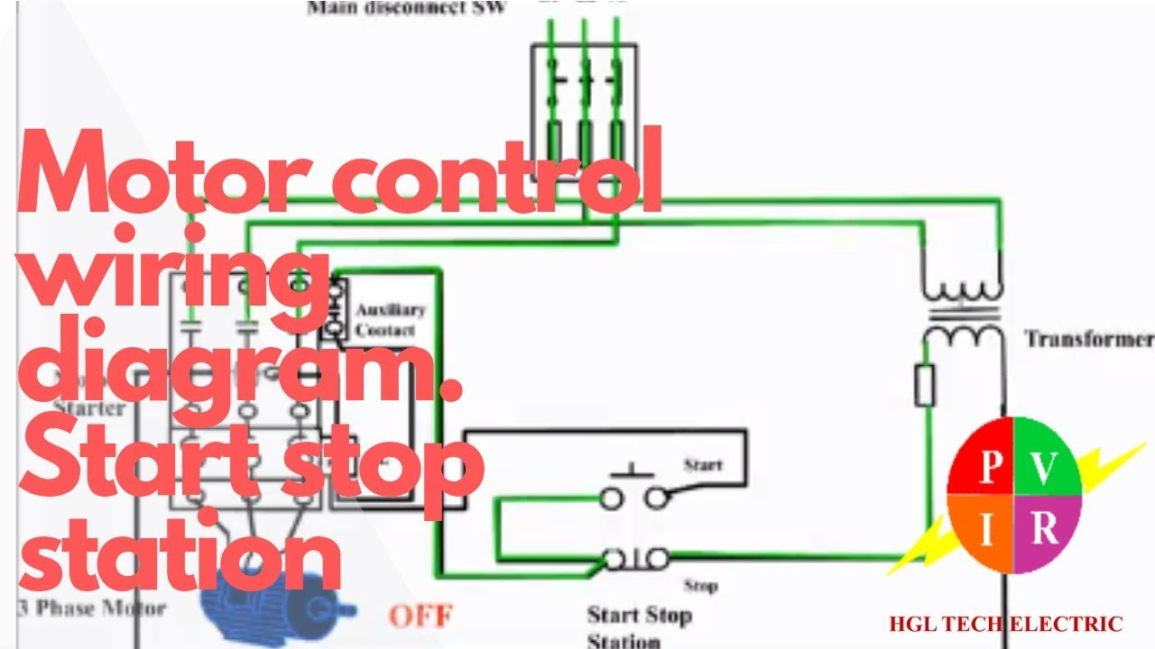 Motor Control Start Stop Station. Motor Control Wiring Diagram. How - Motor Wiring Diagram