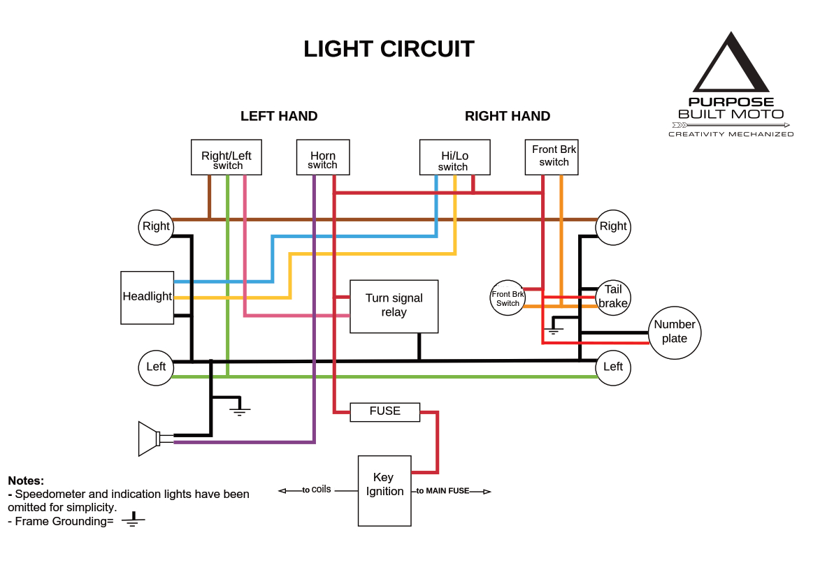 Motorcycle Electrics 101 - Re- Wiring Your Cafe Racer - Purpose - Motorcycle Wiring Diagram