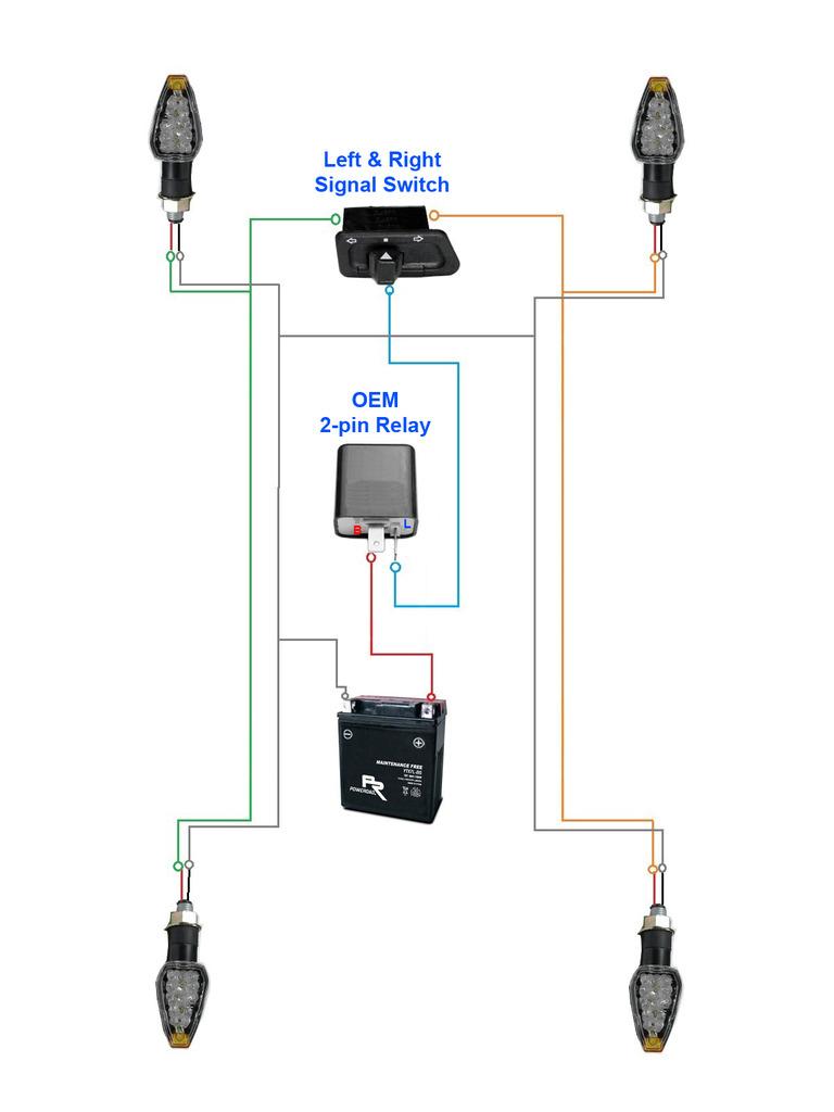 Motorcycle Flasher Relay Wiring Diagram | Wiring Diagram - 2 Pin Flasher Relay Wiring Diagram