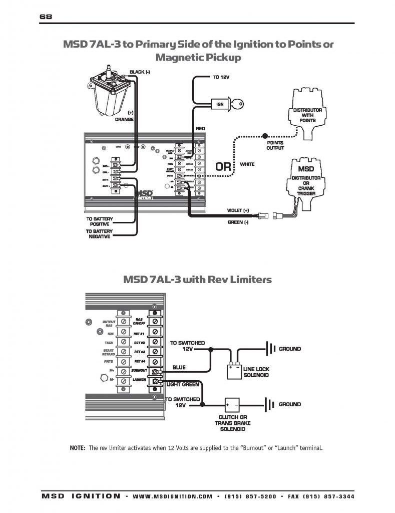 Msd 7Al 3 Wiring Diagram Chevy   Wiring Diagram Online   Chevy Hei Distributor Wiring Diagram