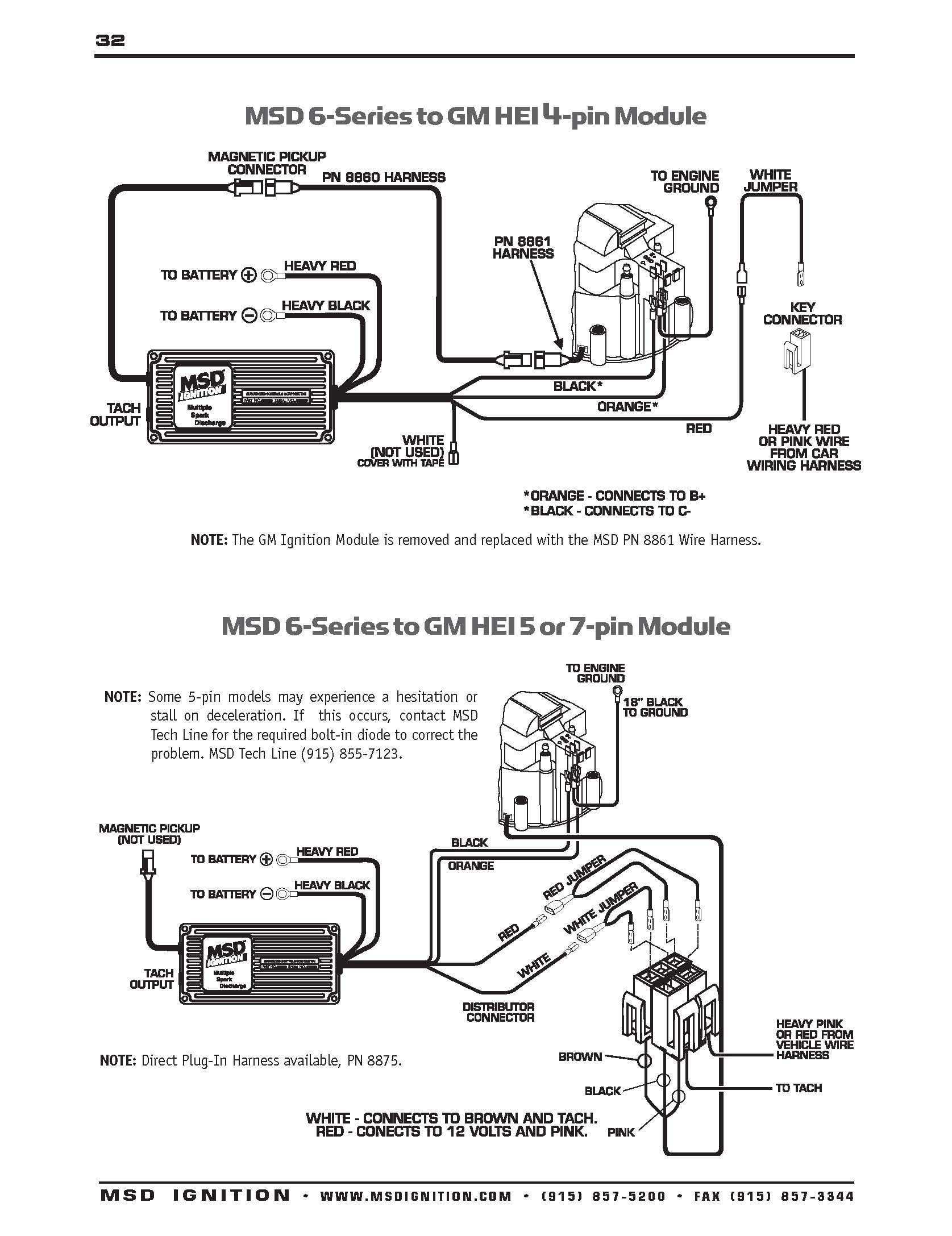 Msd Hei Distributor Wiring Diagram - Data Wiring Diagram Today - Chevy Ignition Coil Wiring Diagram