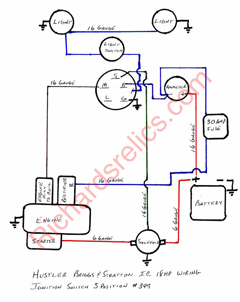 Murray 42544X8C Ignition Wiring Diagram | Manual E-Books - Murray Lawn Mower Ignition Switch Wiring Diagram