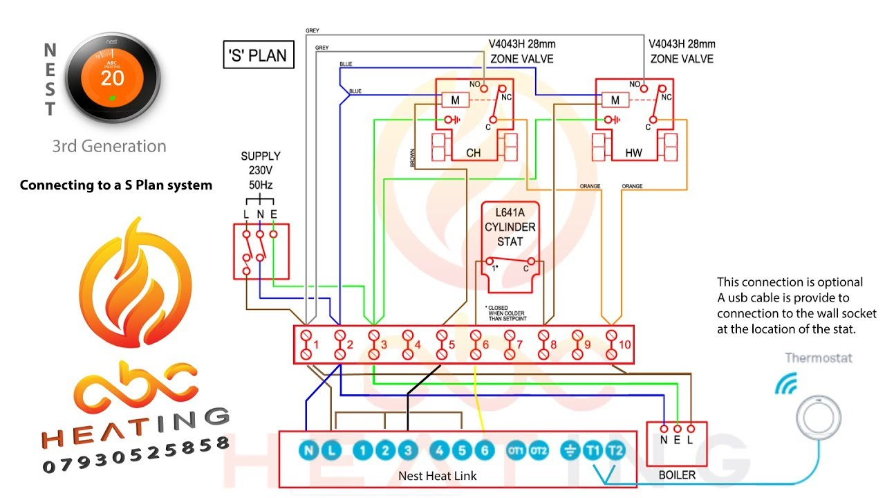 Nest 3Rd Gen Install On A S Plan System Uk - Youtube - Nest 3Rd Generation Wiring Diagram