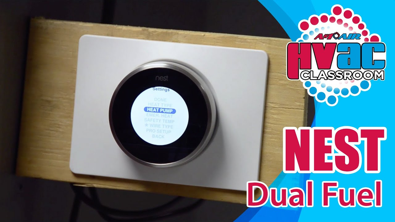 Nest Thermostat - How To Setup A Nest Thermostat For Dual Fuel - Youtube - Nest Thermostat Wiring Diagram Heat Pump