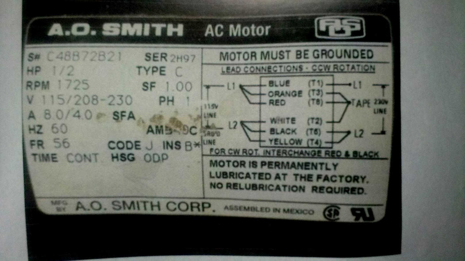 New Ao Smith Motor Wiring Diagram Third Level - Wiringdiagramsdraw - Ao Smith Motor Wiring Diagram