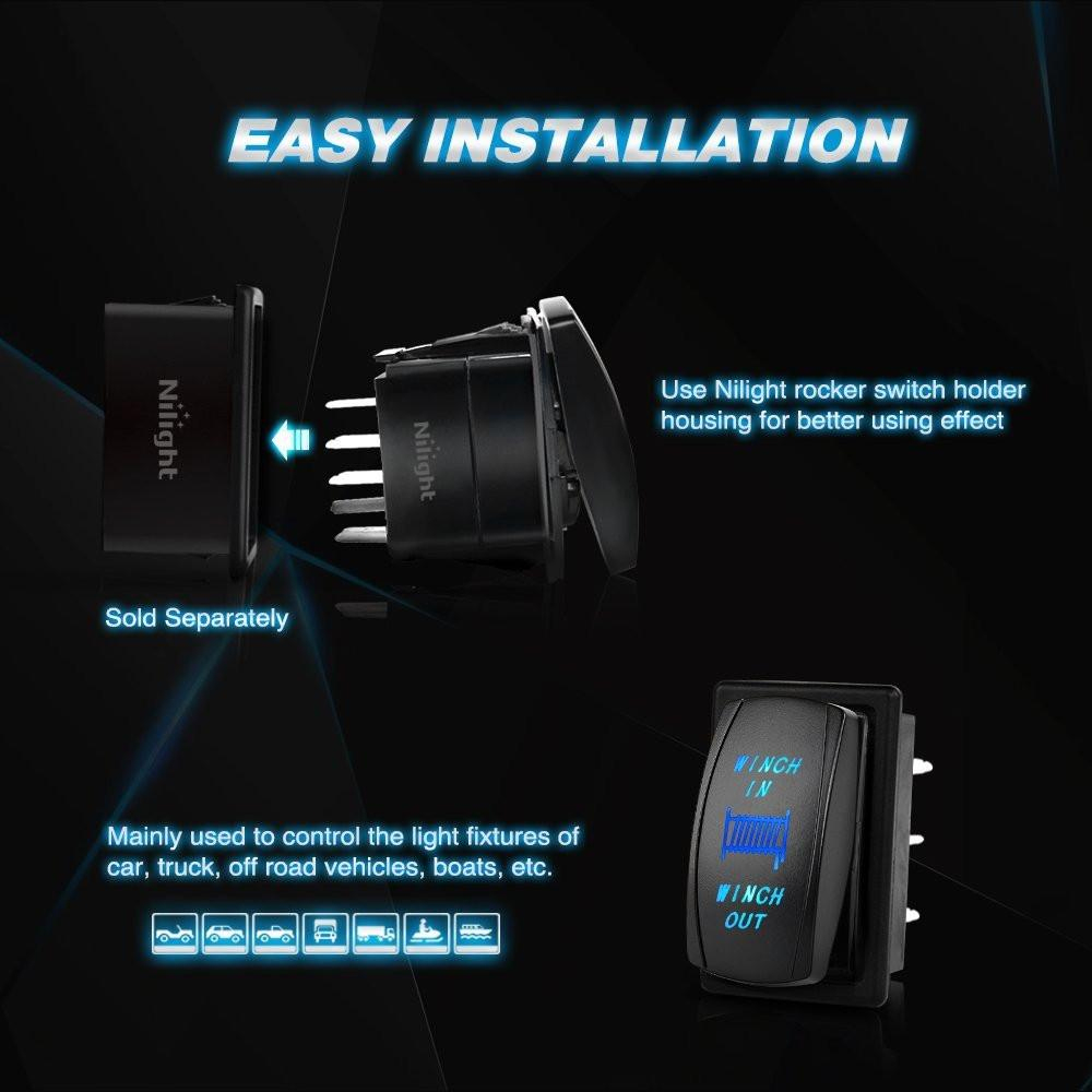 Admirable Nilight Momentary Laser Rocker Switch 7Pin Winch In Winch Wiring 7 Wiring Digital Resources Cettecompassionincorg