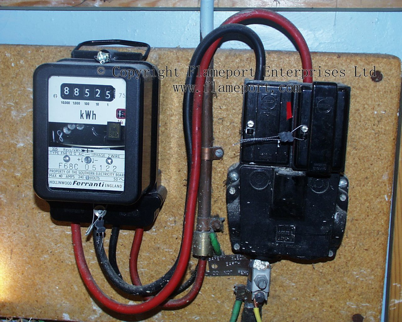 Old Ferranti Electricity Meter - Electric Meter Wiring Diagram
