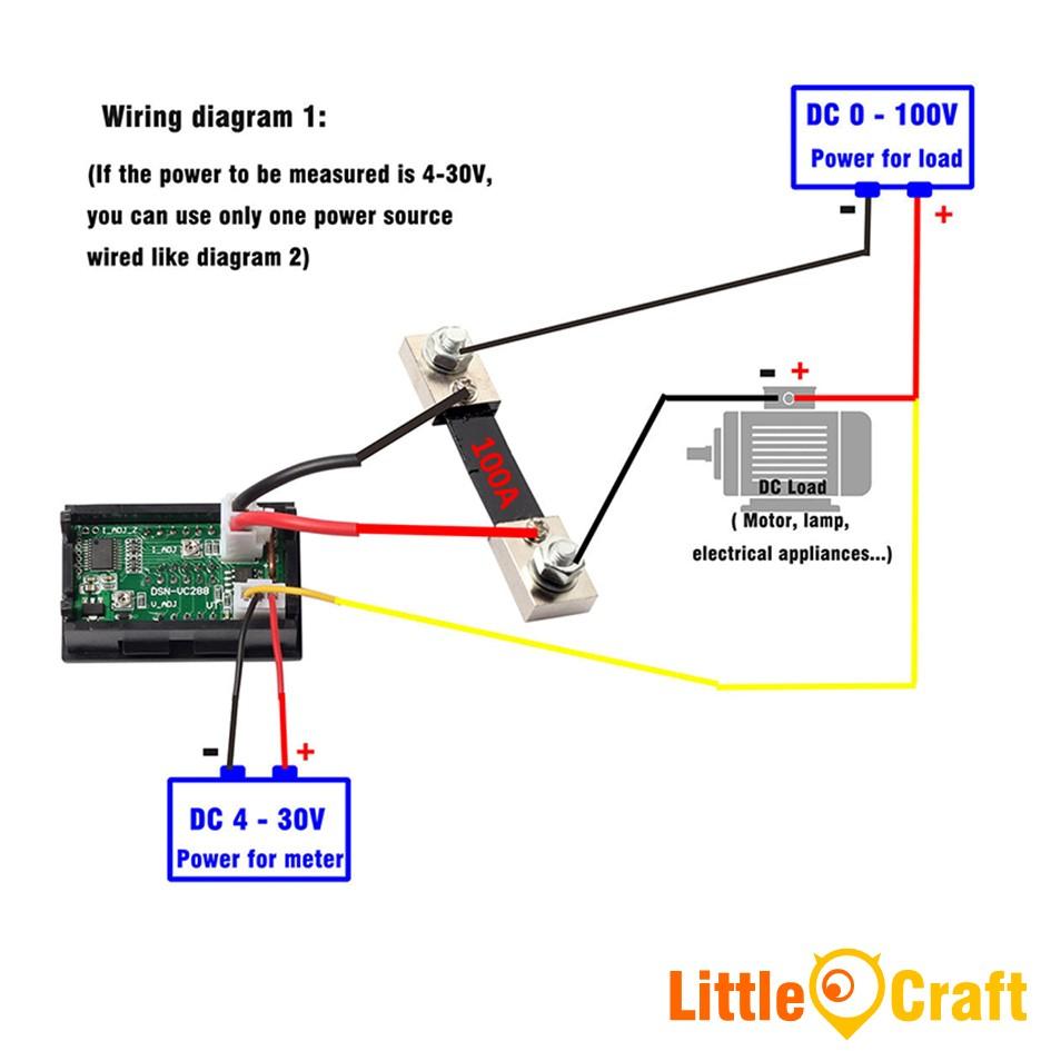 Panel Mount Digital Volt & Amp Mete (End 7/13/2020 10:32 Am) - Digital Volt Amp Meter Wiring Diagram