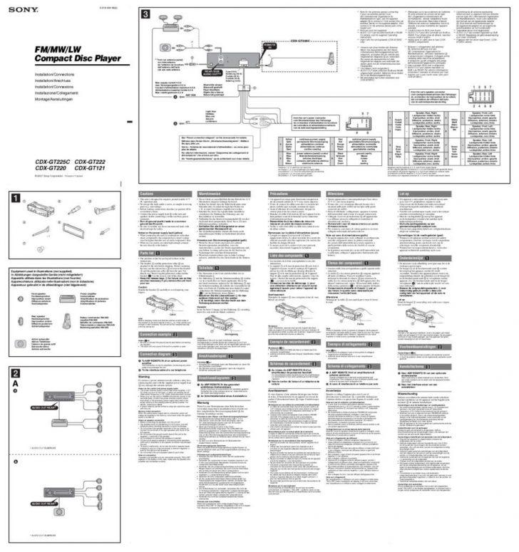 Sony Cdx-Gt565Up Wiring Diagram