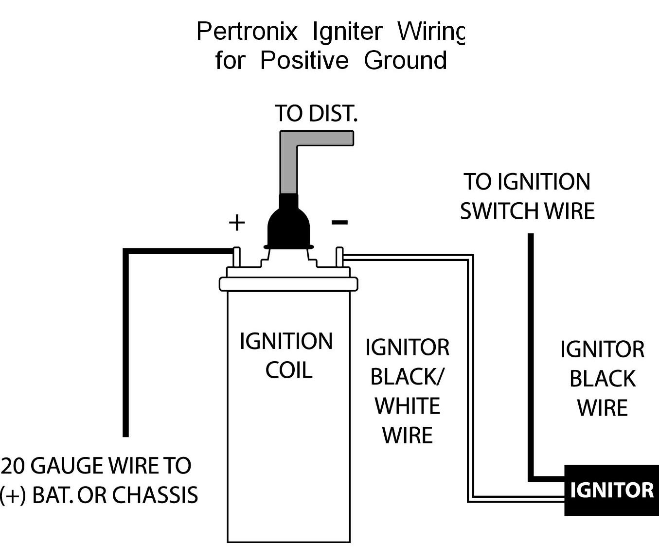 Pertronix Positive Ground Wiring - Pertronix Ignitor Wiring Diagram
