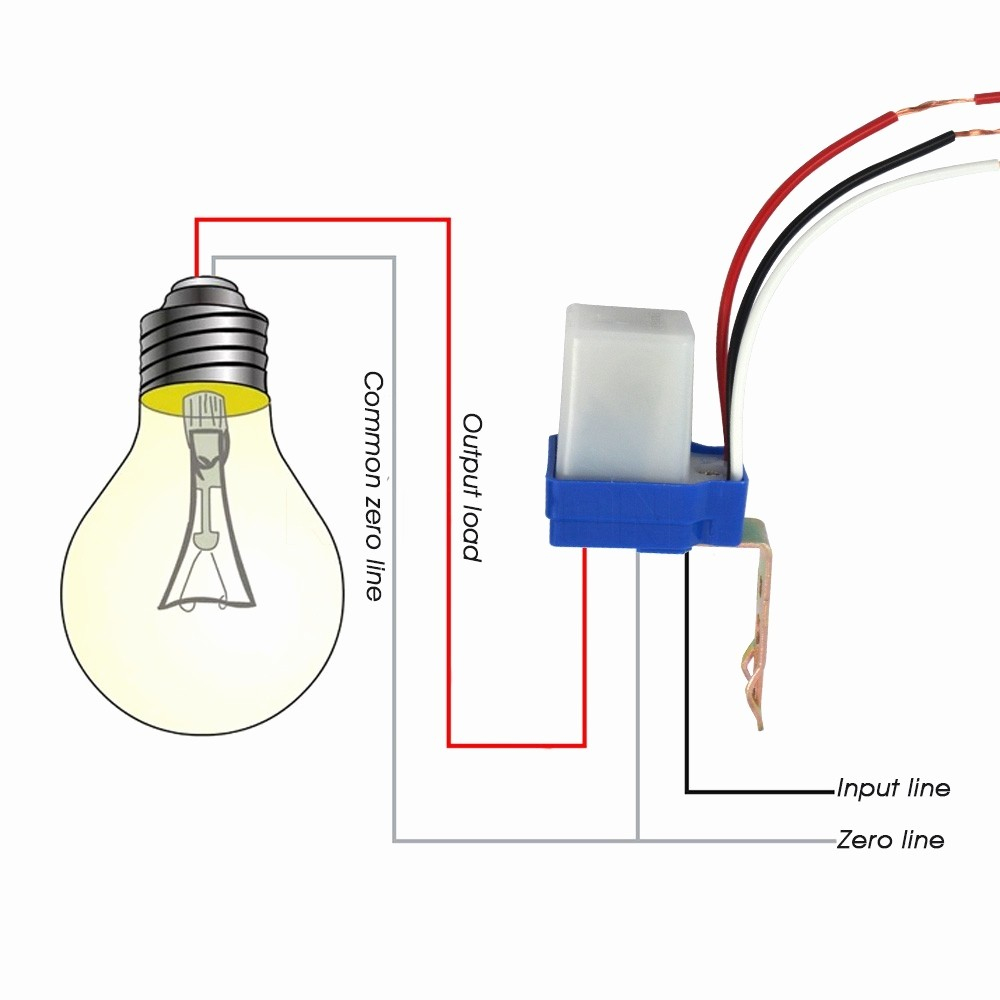 Photocell Wiring Diagram Lighting Light Sensor Switch | Wiring Library - Photocell Wiring Diagram