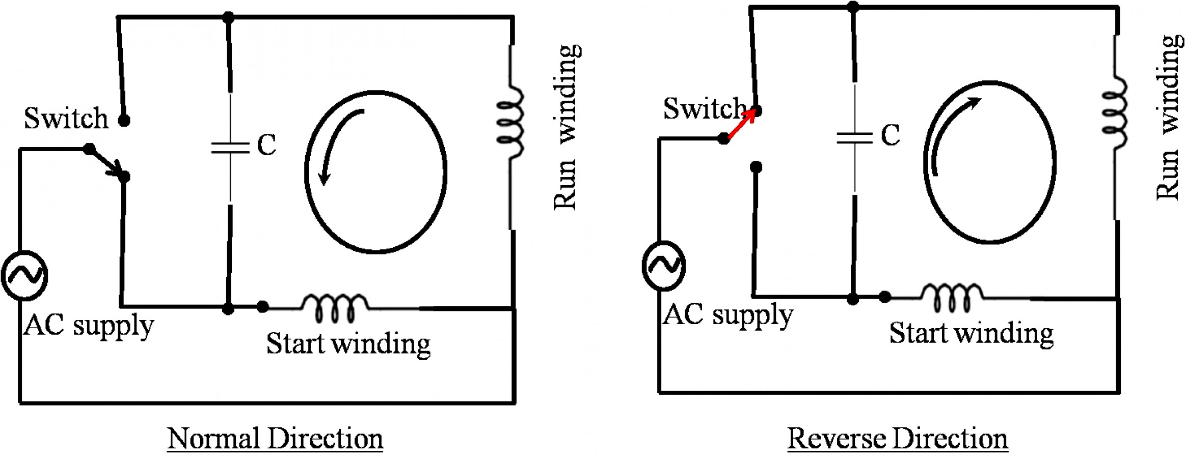 electric reversible motor switch wiring