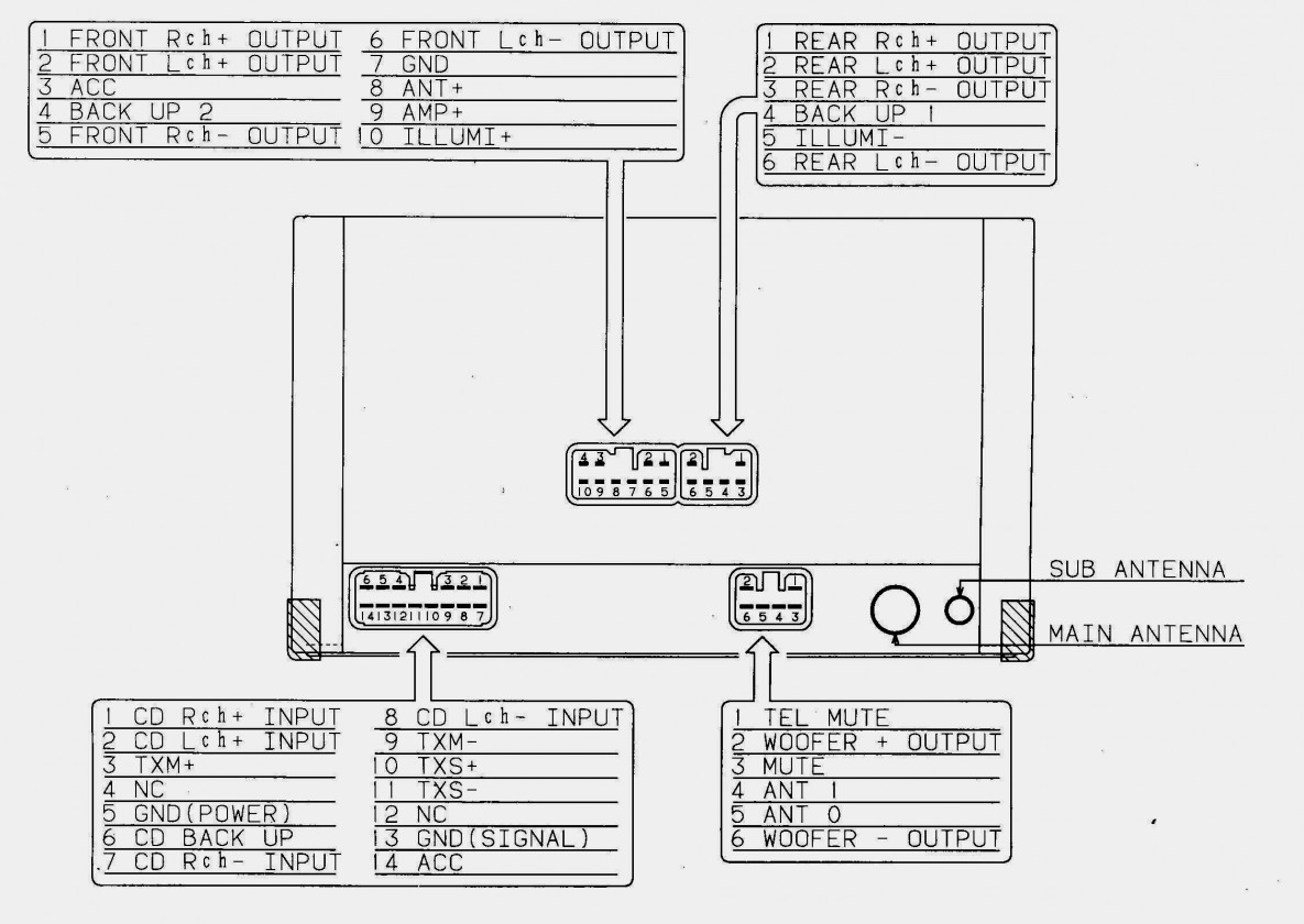 Pioneer 16 Pin Wiring Harness Schematic | Wiring Diagram - Pioneer Wiring Harness Diagram 16 Pin