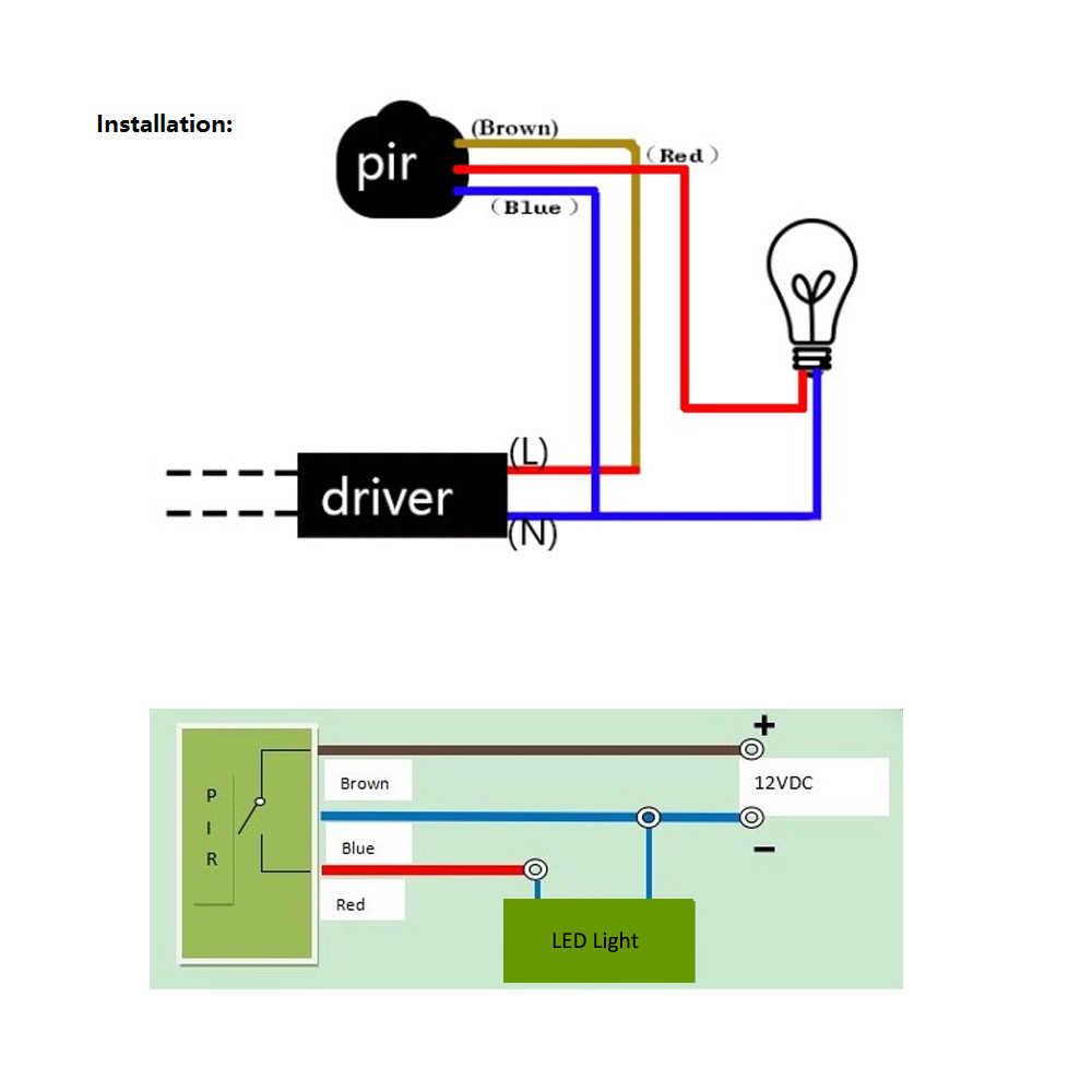 Pir Wall Switch Wiring Diagram   Wiring Diagram - Motion Sensor Wiring Diagram