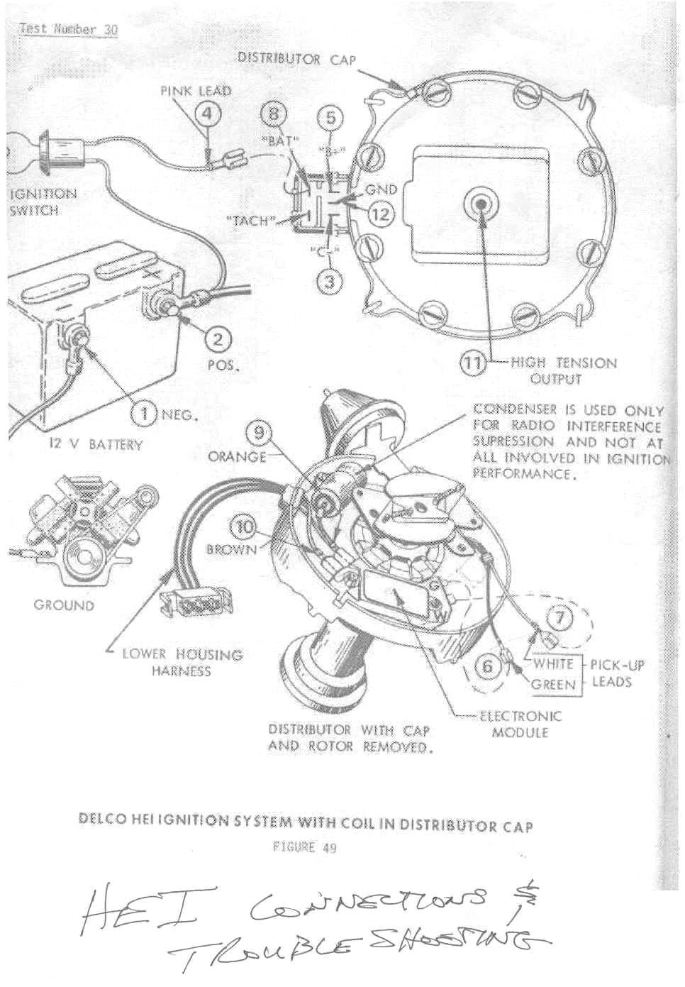 Points Wire In Hei Conversion Wiring Diagram - Panoramabypatysesma - Hei Wiring Diagram