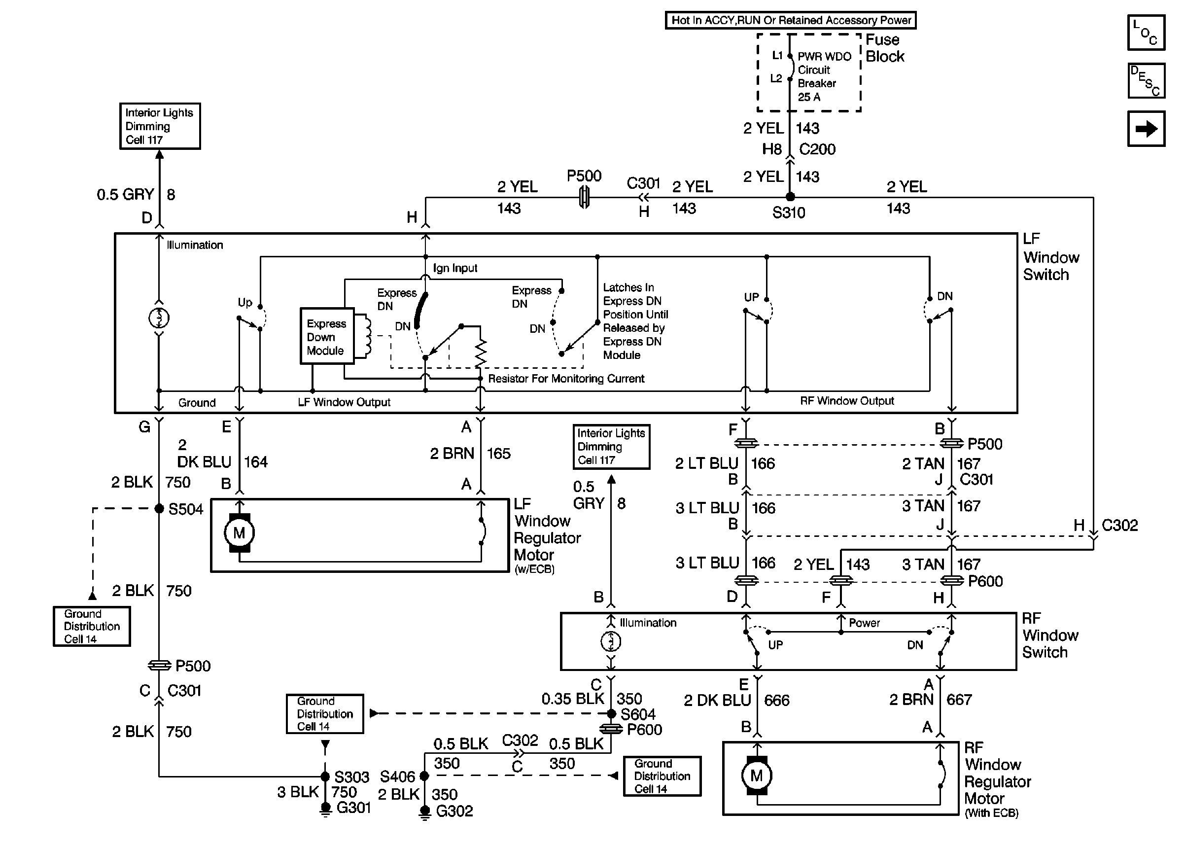 Pontiac Grand Prix Questions - Power Windows - Cargurus - Power Window Switch Wiring Diagram