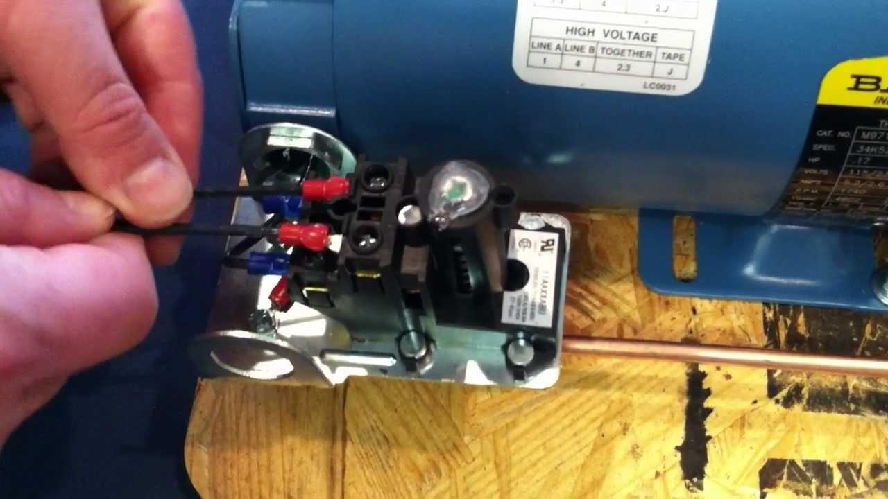 Proper Installation Wiring Procedure: Wiring To The Air Compressor's - Air Compressor Pressure Switch Wiring Diagram