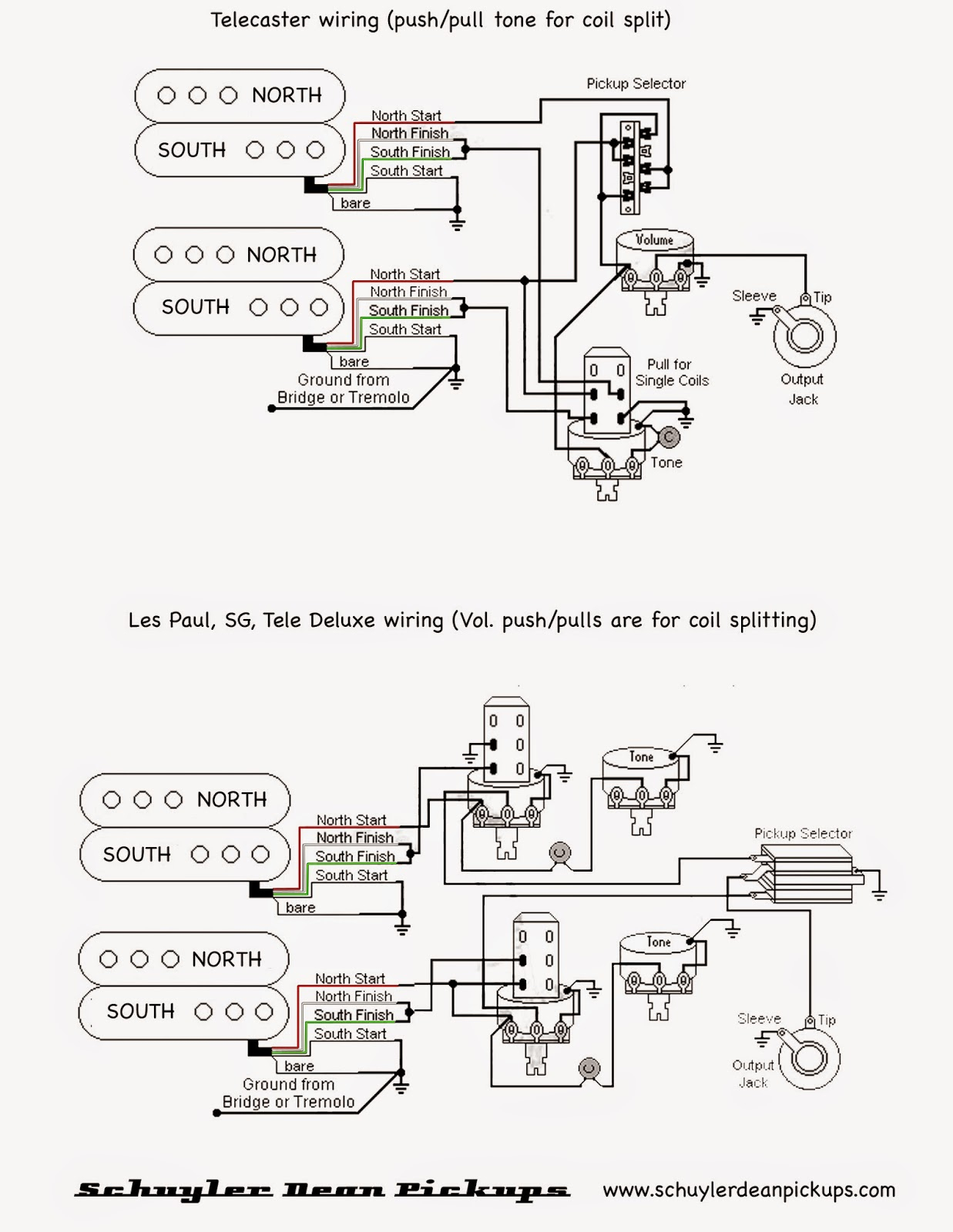 Pull Pot Humbucker Coil Split Wiring Diagram | Wiring Diagram - Hss Wiring Diagram Coil Split
