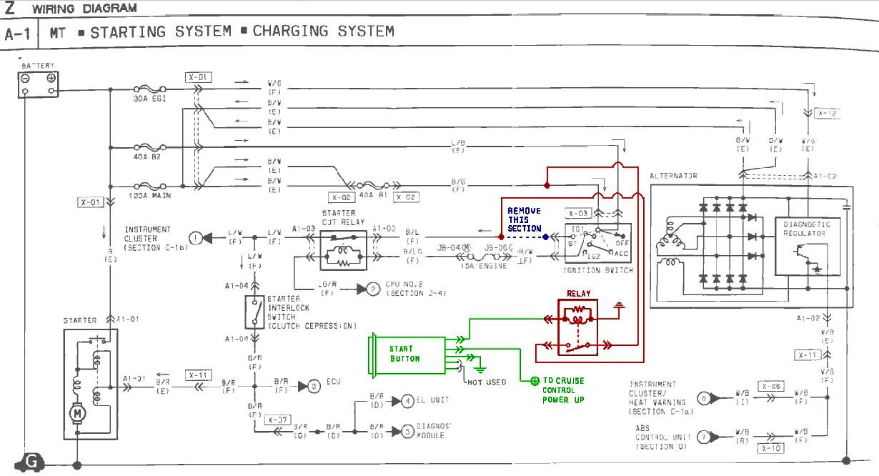 Push Button Start Installation Instructions - Push Button Start Wiring Diagram