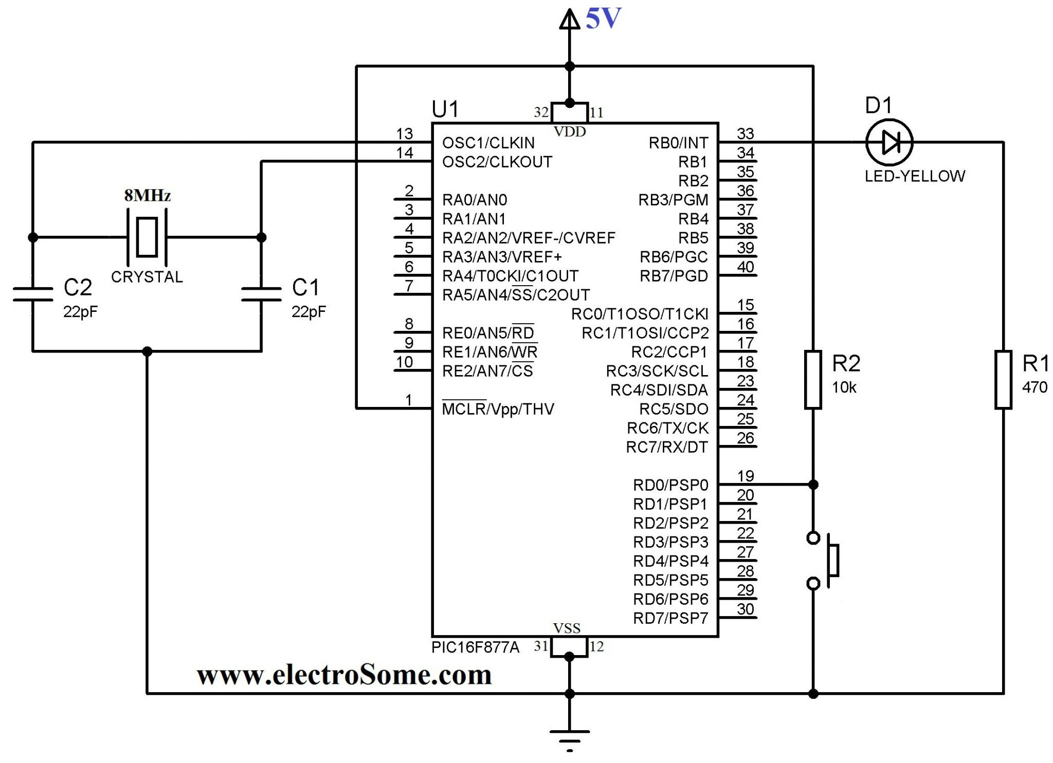 Push Button Starter Switch Wiring Diagram Circuit Using 11N - Push Button Starter Switch Wiring Diagram