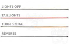 "Putco 60"" Blade Led Tailgate Light Bar With Power Wire Modification   Led Tailgate Light Bar Wiring Diagram"
