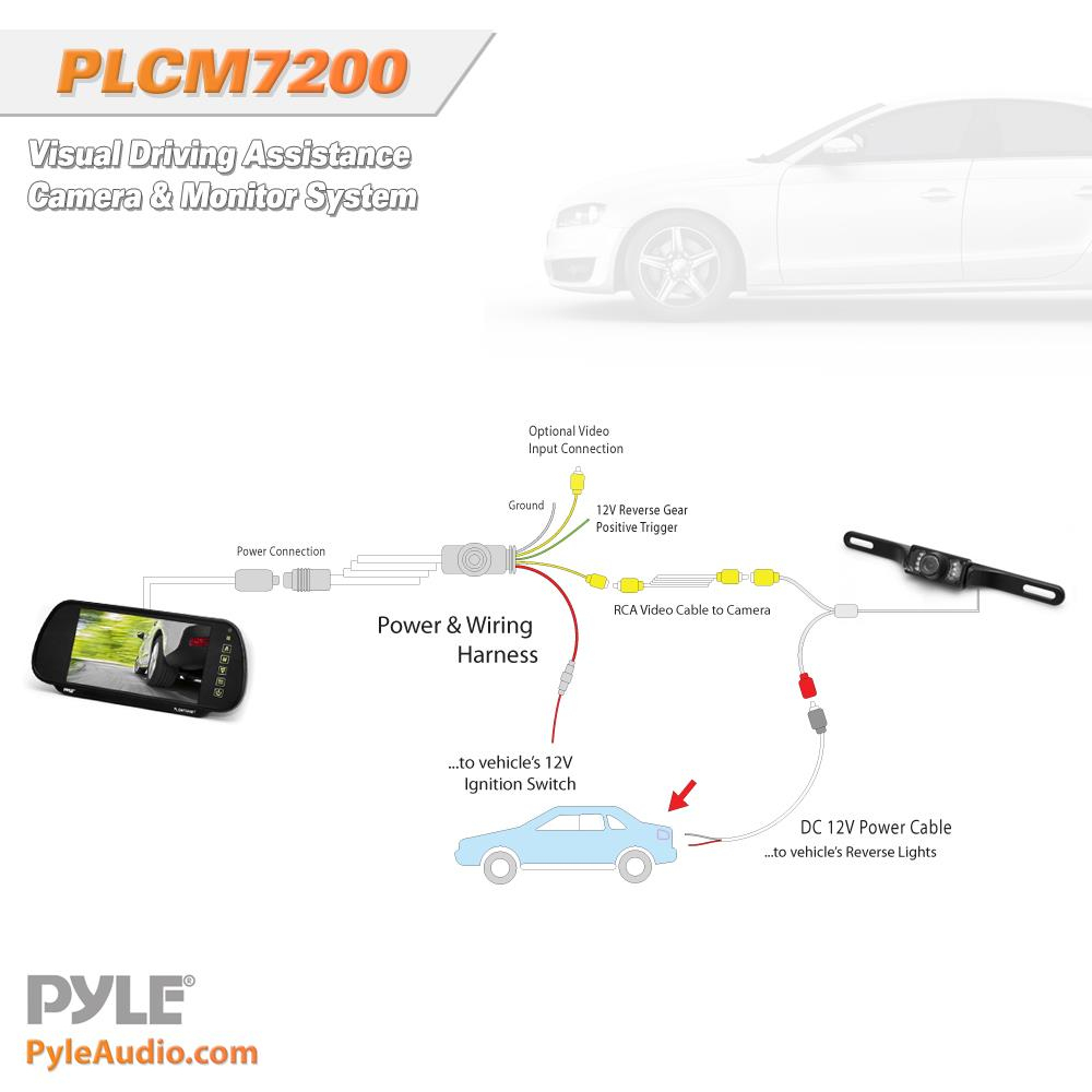 Pyle Plcm7200 Schematics Wiring View - Wiring Diagram Detailed - Pyle Backup Camera Wiring Diagram