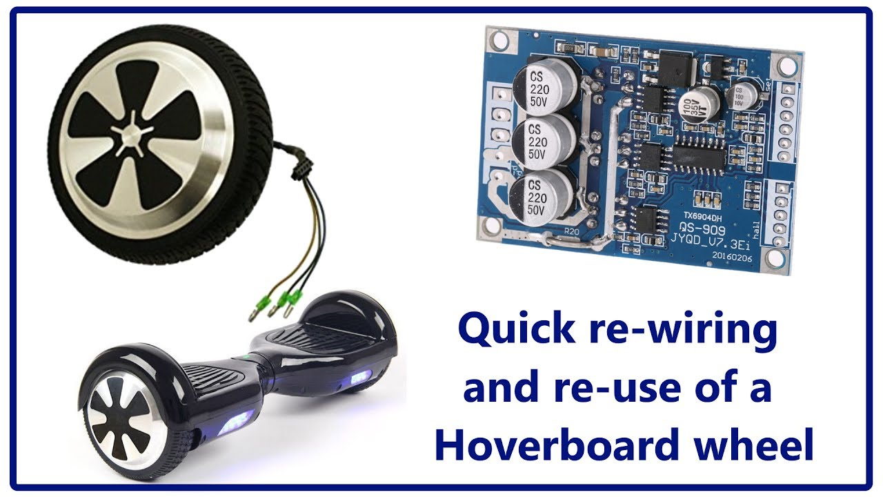 Quick Rewire Of A Hoverboard Wheel - $Ave On Your Next Robot Project - Hoverboard Wiring Diagram