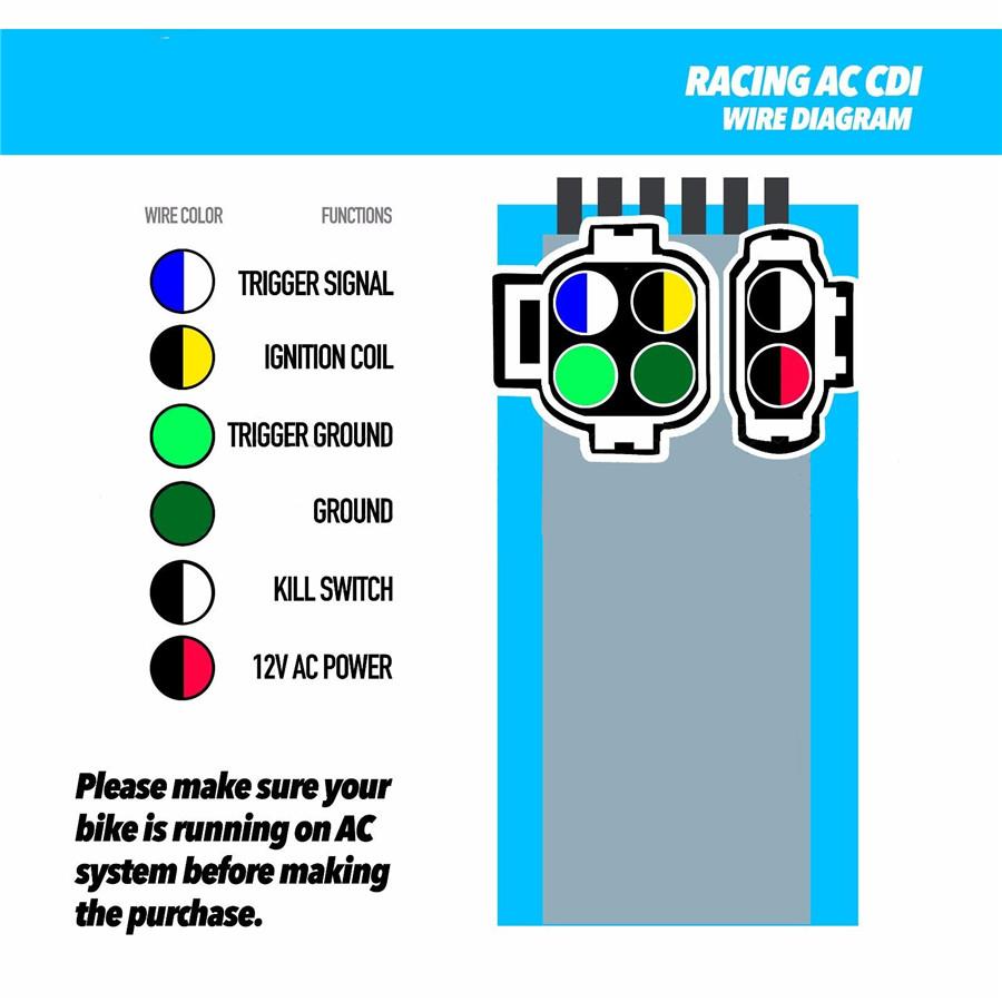 Racing Ignition Coil+6 Pin Cdi Box+Air Filter Kit For Gy6 50-150Cc - 6 Pin Cdi Box Wiring Diagram