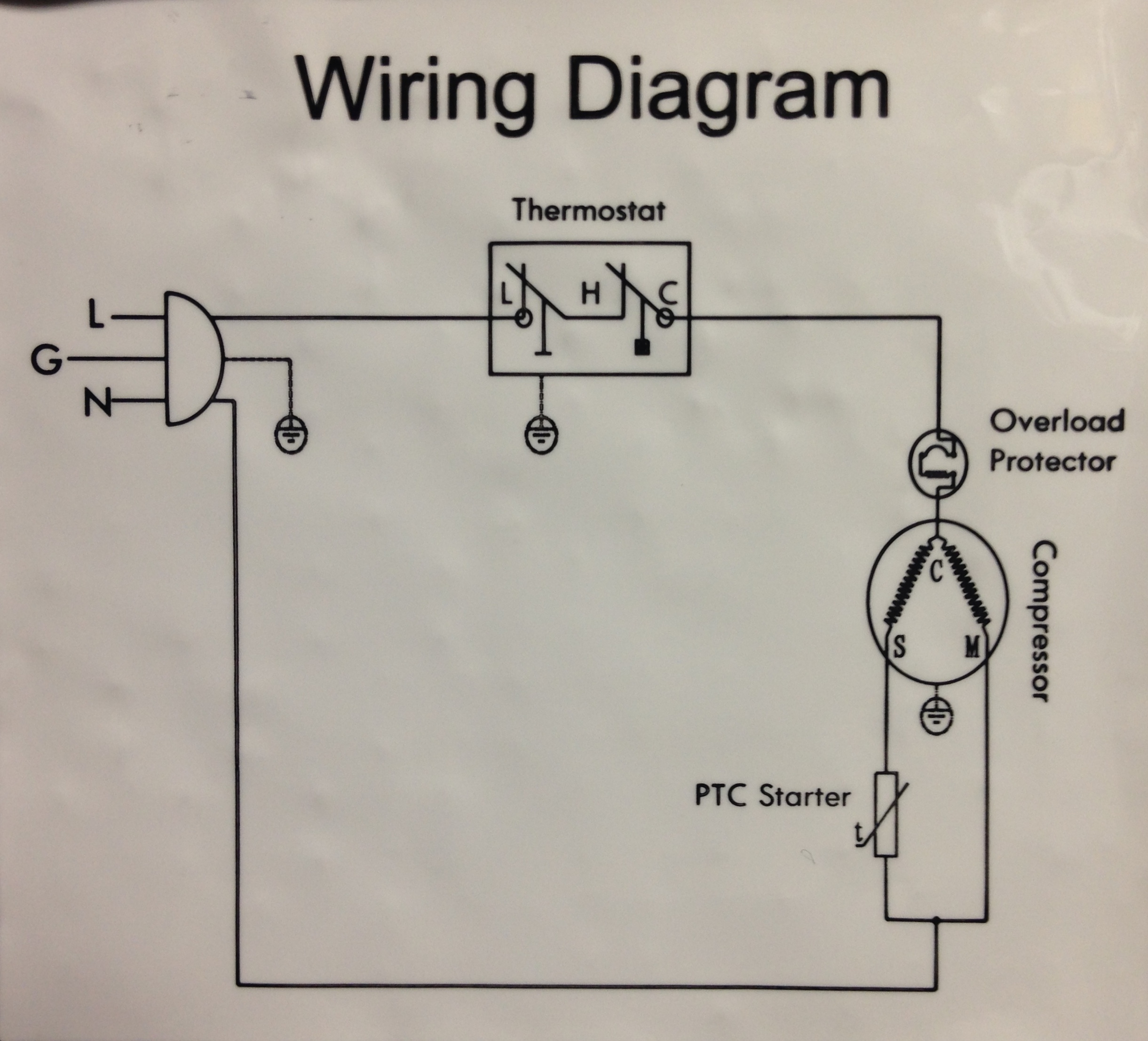 Refrigeration Compressor Wiring Diagram | Manual E-Books - Refrigerator Compressor Wiring Diagram
