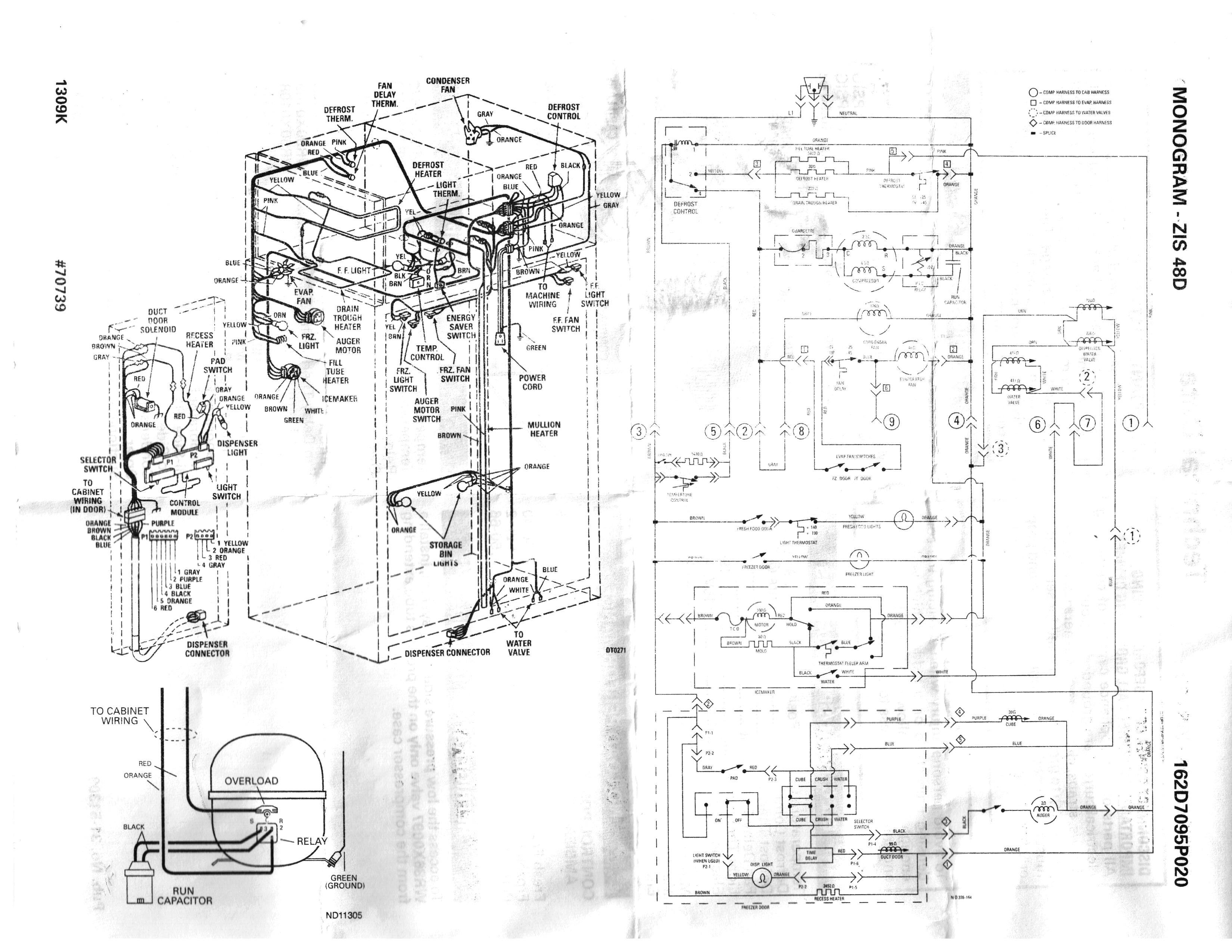 Refrigerator Wiring Diagrams For Ge Gss20Gewj Bb | Wiring Diagram - Ge Refrigerator Wiring Diagram