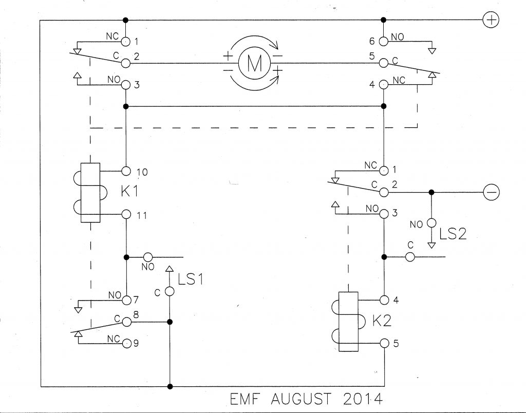 Relay   Limit Switches To Control Motor Direction   Electrical   12 Volt Relay Wiring Diagram