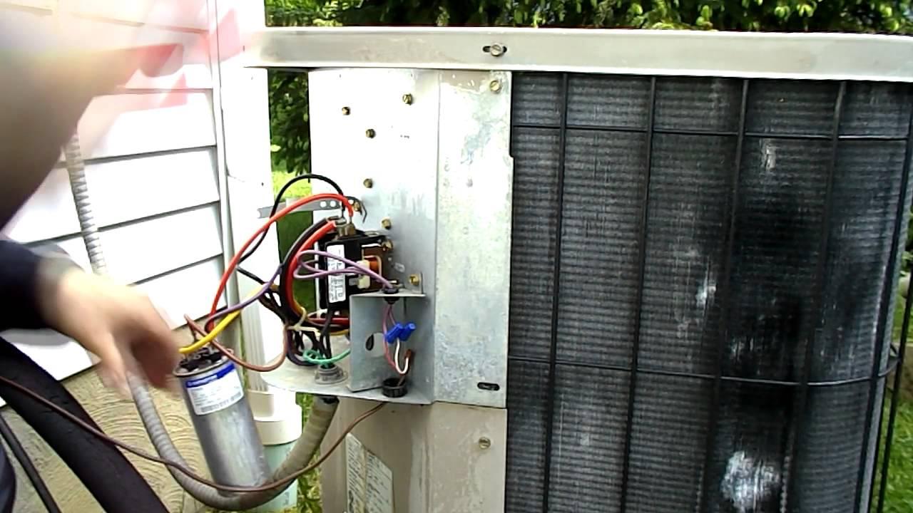 Replacing A Start Run Capacitor - Youtube - Start Run Capacitor Wiring Diagram