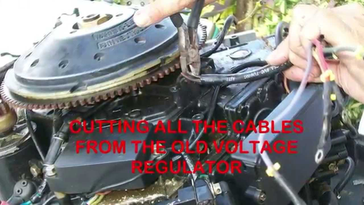 Replacing The $100 Voltage Regulator On Outboard Motors With A $4 - Mercury Outboard Rectifier Wiring Diagram