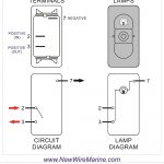 Rocker Switch Wiring Diagrams | New Wire Marine   8 Pin Rocker Switch Wiring Diagram