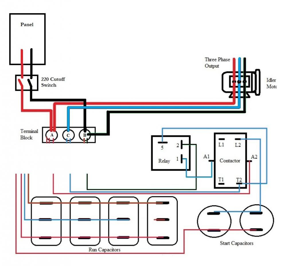 Rotary Phase Converter Help And Troubleshooting - Page 2 - Rotary Phase Converter Wiring Diagram
