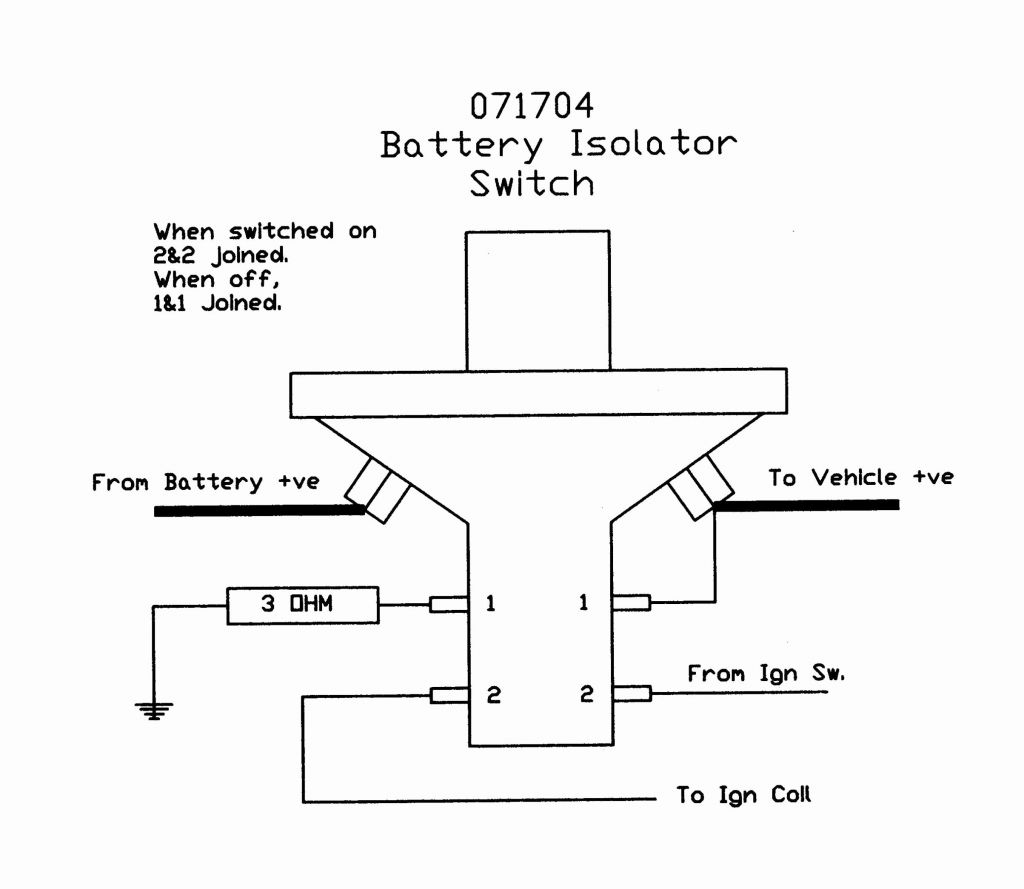 Rv Battery Disconnect Switch Wiring Diagram Luxury Battery Switch - Battery Disconnect Switch Wiring Diagram