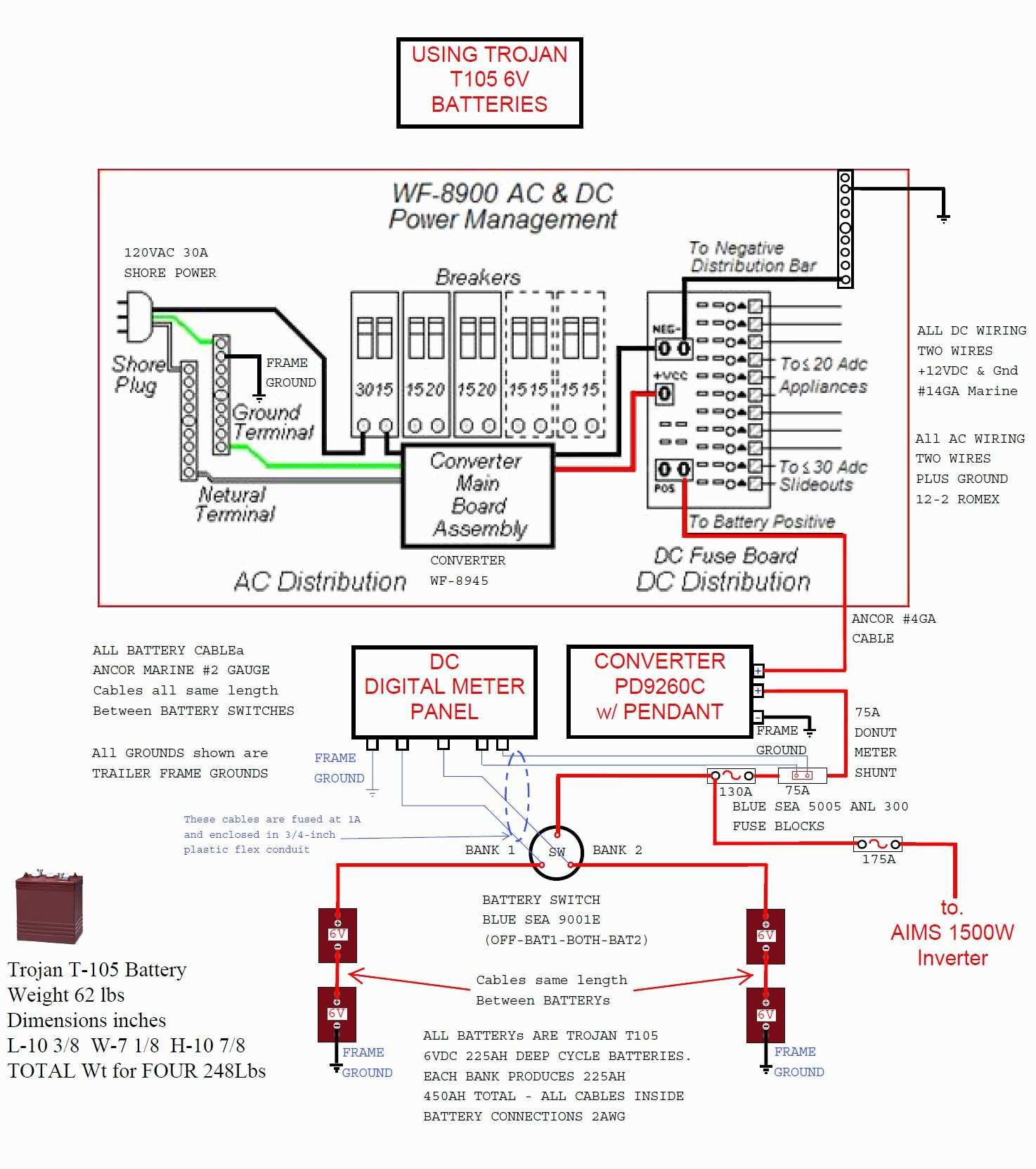 Rv Power Converter Wiring Diagram Simplified Shapes Wiring Diagram - Rv Power Converter Wiring Diagram