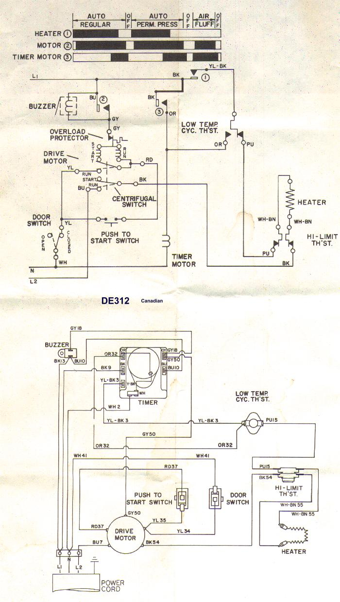 Sample Wiring Diagrams | Appliance Aid - Dryer Wiring Diagram