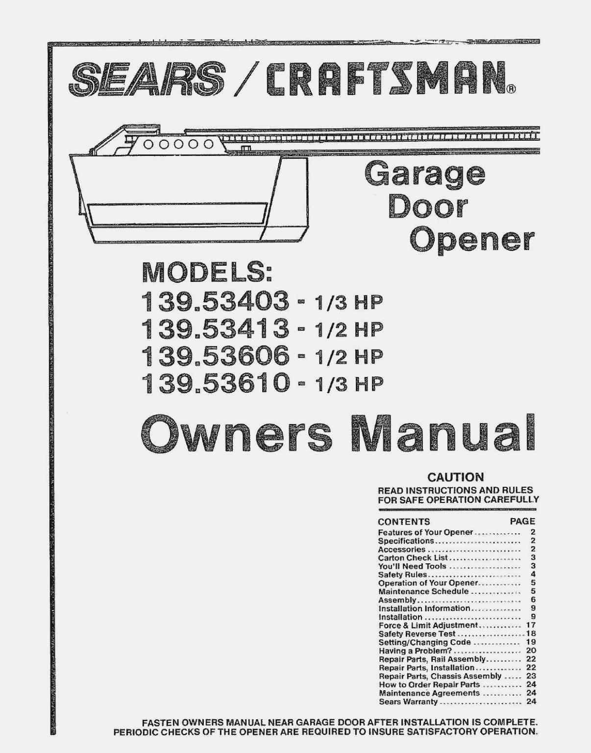 Sears Garage Door Opener Wiring | Wiring Diagram - Craftsman Garage Door Opener Sensor Wiring Diagram
