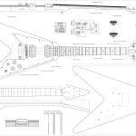 Set Of 4 Electric Guitar Plans   Gibson Flying   V, Gibson Explorer   Es 335 Wiring Diagram