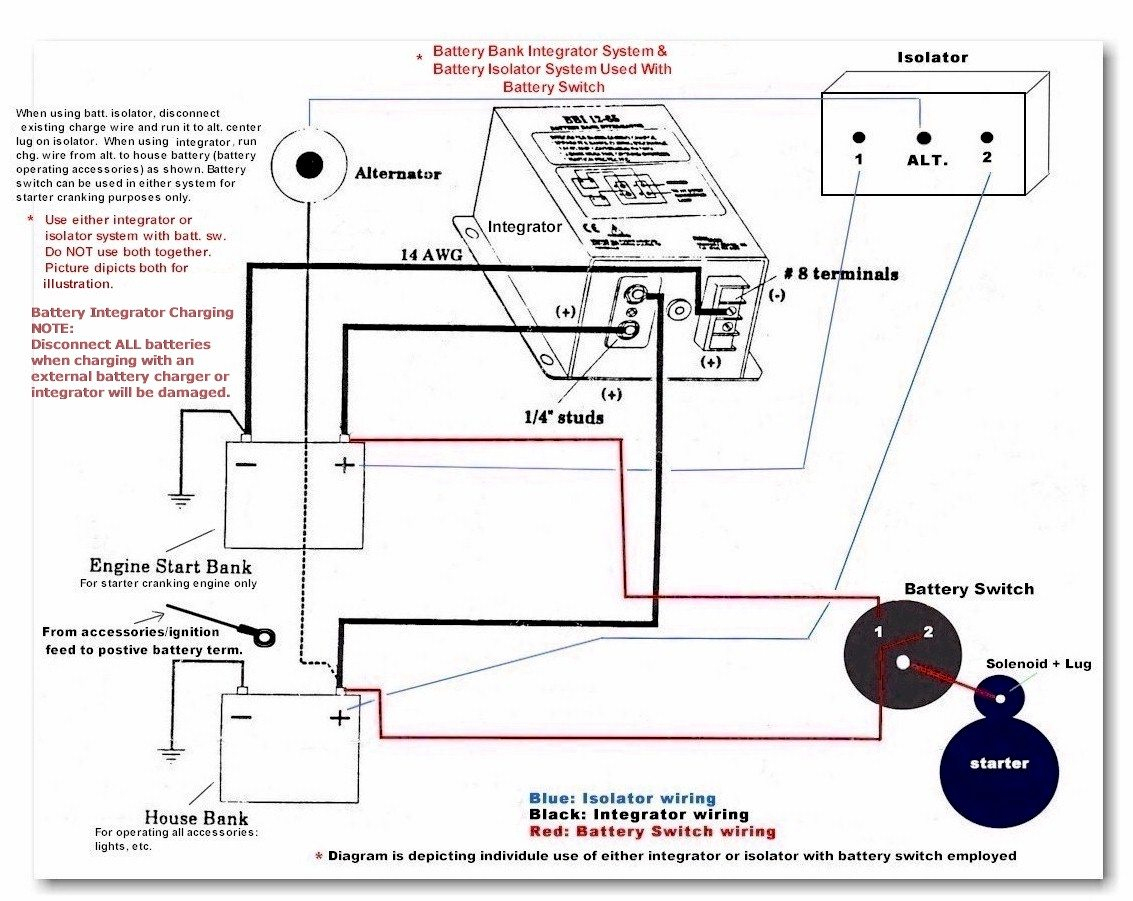 Ship Shape Ii Boat Battery Switch Isolators Integrators Systems - Boat Dual Battery Wiring Diagram
