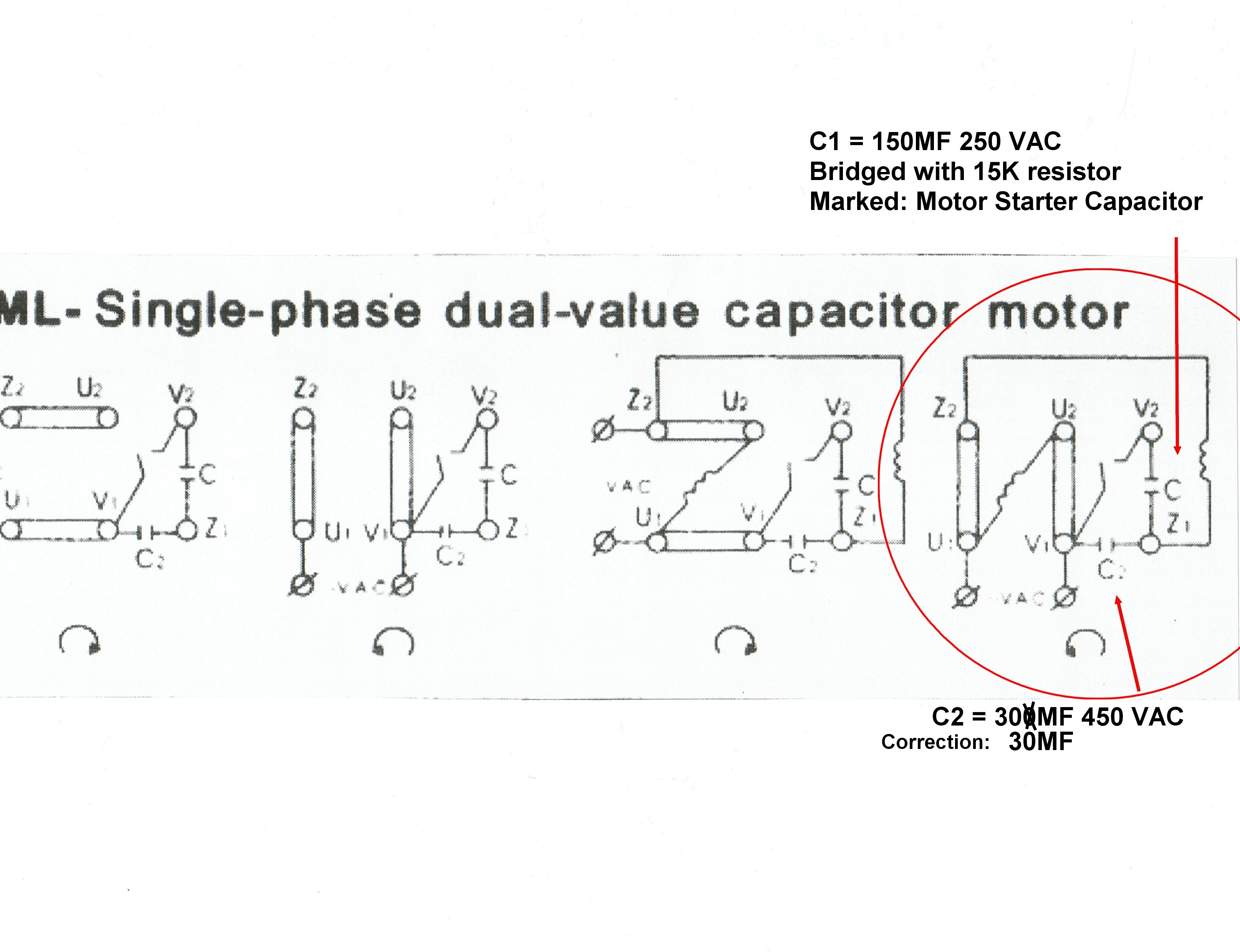 Single Phase Capacitor Motor Wiring Diagrams | Wiring Diagram - Single Phase Motor Wiring Diagram With Capacitor