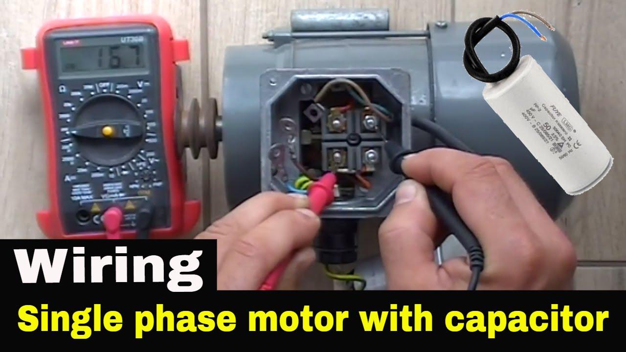 Single Phase Capacitor Start Motor Wiring   Wiring Diagram - Single Phase Motor Wiring Diagram With Capacitor Start