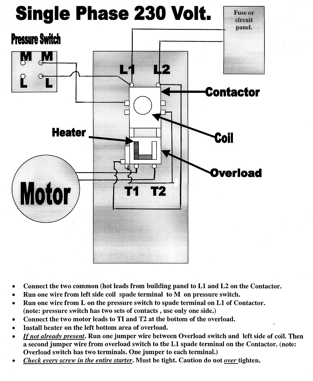Single Phase Compressor Wiring Diagram - Wiring Diagram Explained - Compressor Wiring Diagram Single Phase