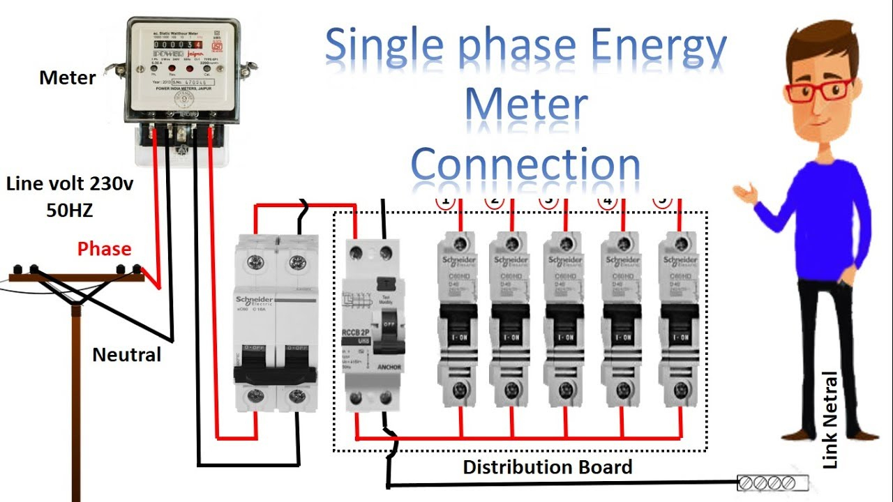 Single Phase House Wiring Diagram | Wiring Diagram - Single Phase House Wiring Diagram