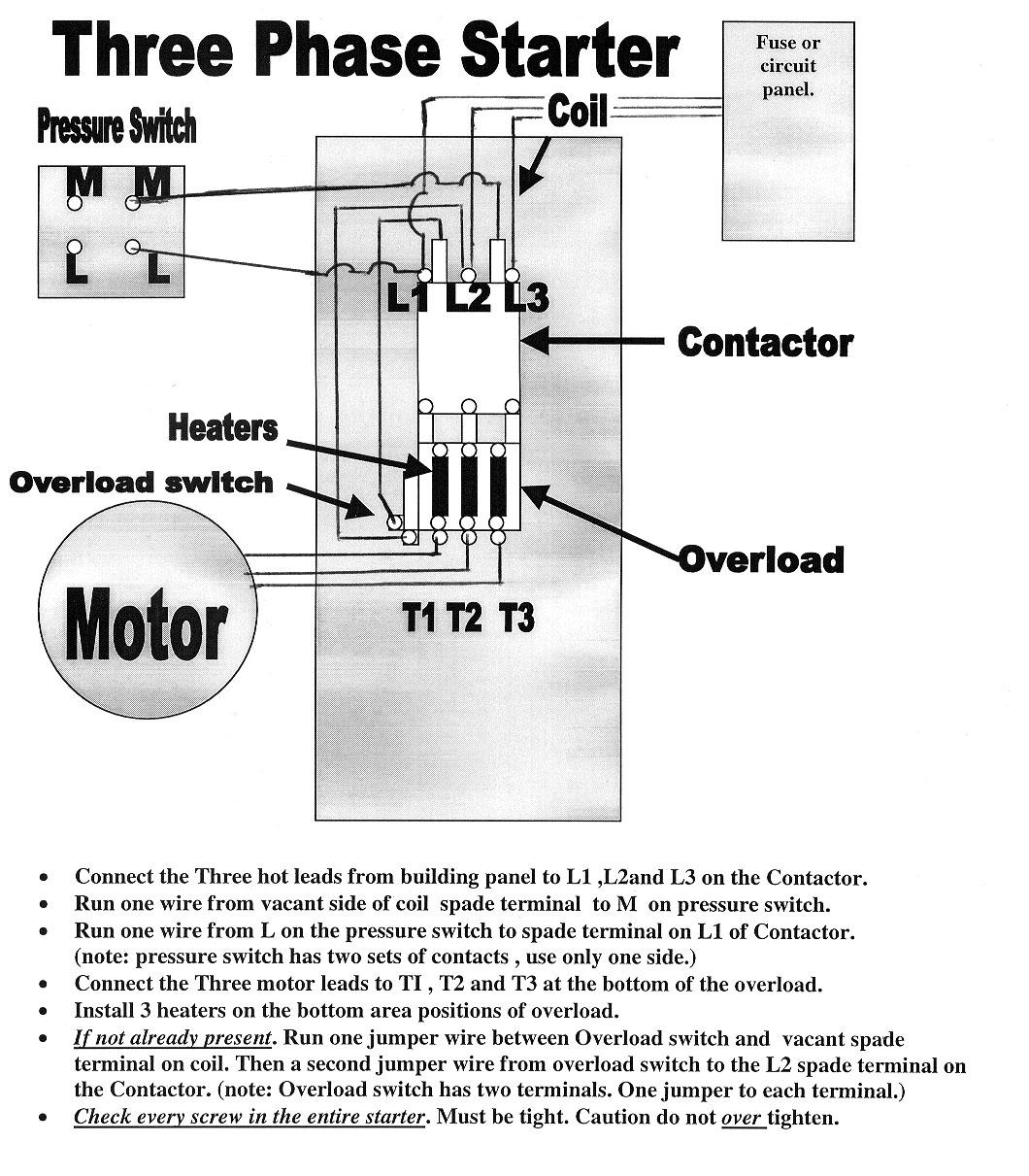 Single Phase Magnetic Starter Wiring Diagram | Manual E-Books - Magnetic Starter Wiring Diagram